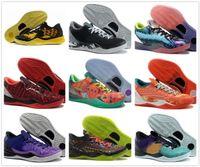 K8 8 Basketbol Ayakkabı Siyah Mamba Ayakkabı WTK Prelude Yansıma Yıl Yılı Noel 2012 Paskalya Mor Kingcaps Eğitim Sneakers Dropshipping Kabul