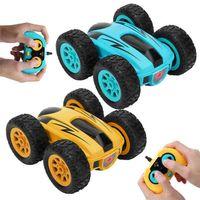3,7 дюйма RC CAR 2.4G 4CH Drift Stunt двусторонний отказов трюк рок шарающий рулет автомобиль 360 градусов Flip Kids Robot RC автомобильные игрушки 210830