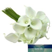 Свадебный букет реалистичные белые латекс Calla Lily Lisianthus Цветочный пучок 20 головы