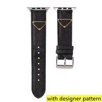 Designer-Uhrenband-Strap für Apple-Uhr-Band 42mm 38mm 40mm 44mm iWatch 5 4 3 2 Bands Luxus-PU-Leder-Riemen Armband Modebrief bedrucktes Uhrband