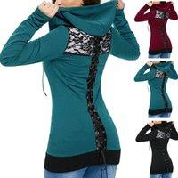 Women's Hoodies & Sweatshirts Bandage Long Sleeve Casual Lace Up Back Zip Hoodie Sweatshirt With A Zipper Autumn Slim Fit Tops