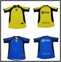 MX Club América 2001/2002 Versão Retro Soccer Jersey 01/02 America R.Sambueza P.Aguilar Camisa Vintage México Club Futebol Camisa