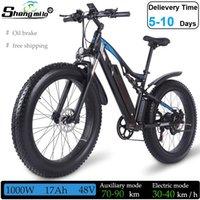 US Shengmilo MX03 Electric 26in 1000W Mountain Bike 17Ah 48V Adult Fat Tire Bicycle 40km h E-bike Moped