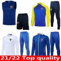 20 21 22 22 Boca Juniors Soccer Training Suit Polo Kit 2021 2022 Argentina Jacket Tevez Maradona de Rossi Kun Aguero Futebol Tracksuit