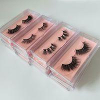 3D Faux Mink Lashes Fluffy Soft Wispy Natural Cross Eyelash Extension Reusable False Eyelashes 10 pairs