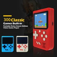 Portable Game Players 2.4 Inch Retro Video Console Mini Handheld LCD Kid Color Player Built-In 300 Games Birthday Gift