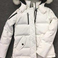 2021 Men's Wemen's Down Parkas Big Fur Collar Hooded White Goose Jacket knuckles Winter Moose Coat Men Warm Parka Jackets Hoodies