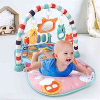 QWZ Baby Activity Gym Drink's Play Mat 0-12 meses Desarrollo de alfombras Soft Rattles Musical Toys Forg for Babies Games 210908