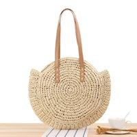 Duffel Bags Summer Straw Beach Bag Tote Woven Handbag Travel Rattan Shopping Big Capacity Casual Female Shoulder