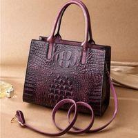 Women Fashion Medium Quality Bags Embossed With Zipper Handbags Crocodile Grain Eu2Z Good Totes Cheap Pu Belmo