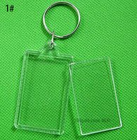 واضح الاكريليك البلاستيك أقراط فارغة إدراج جواز السفر إطار الصورة سلسلة المفاتيح صورة للحزب هدية