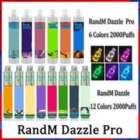 100% authentisch Randm Dazzle Pro Einweg-Electronic-Zigaretten-Geräte-Kit 6ml-Pods 2000 2600 Puffs 1100mAh Batterie-Batterie-Batterie-Stift aufgefüllt
