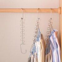 Cabides de roupa Hanging Chain Metal Pano Cabide Cabide Camisas Tidy Economize Organizador Espaço Pendurado Para Roupas FWF7757