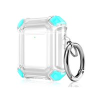 Shockproof Stitching Color Transparent Clear PC Protective Case For Airpods 1 and 2 Bluetooth AirpodsPro 3 Headphones Earbuds Earphone