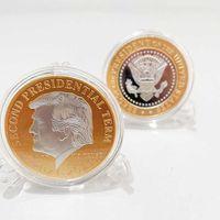 Moda Art Deco Trump Coin 2021-2025 Segundo Plazo Presidencial Craft Craft Metal Insignia Collector Moneda