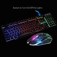 Rainbow Backlit USB Wired Gaming Keyboard Mouse Pad Set For PS4 PS3  PC Keyboards