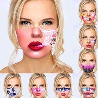 3D stampa designer maschere viso donne ragazze divertente espressione stampata antipasto anti-nebbia maschera facciata in cotone lavabile in cotone resistente fashion cover cover cover 2021