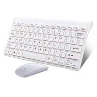 Kit de clavier sans fil optique mince et ultra-mince MICE MICE USB Receiver Combo Combo pour Mac PC Computer Combos