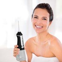 Irrigateur oral professionnel pour les dents portable rechargeable eau flosser noir 300ml réservoir