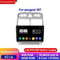 2.5D IPS DSP 2din 안드로이드 10.0 자동차 DVD 멀티미디어 플레이어 307 307cc 307SW 2002-2013 라디오 GPS 네비게이션 WiFi BT