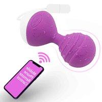 10 Fréquence Femelle Dildo Vibrateur App Bluetooth Télécommande sans fil G-Spot Vagin Massager Adulte Produit Sexe jouet pour femme