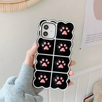3D Funny Paw Silicone Phone case for iphone 13 12 11 Pro Max Xs Xr 7 8 Plus X Se 2 Cute Footprint cover