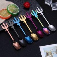 Spoons en acier inoxydable Trident Cuillère de café Titanium Fork Fork Fork Fork Articles arrive avec différentes couleurs 3 8FY J1 8XKJ