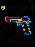لوحة النيون ل بندقية لعبة غرفة عرض المصابيح النيون علامة الحرفية الأيقونية البيرة بار المهنية النيون ضوء قاعة التسوق الخفيفة