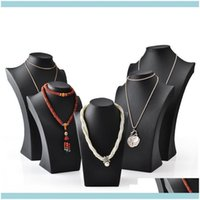 Packaging & Jewelryblack Pu Leather Necklace Bust Tall Jewelry Display Neck Form For Jewellery Window Shelf Exhibition Counter Top Stand Xpi