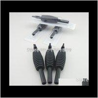 Aggerimenti all'ingrosso 30pcs 19mm Black Flatmags 7 tatuaggio monouso Grip Tube Supply BDG197F Yamzy M4SJT
