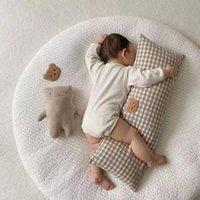 Pillows INS Cartton Baby Long Pillow Washable Bumper Crib Infant Bear Bedding Cushion Cot Protector Kids Sleeping