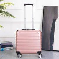 Bavullar çocuğun seyahat bagajı 18 '' kabin bavul tekerlekli bavul arabası çantası seyahat etmek için haddeleme bagaj trolly üzerinde taşıma fashio