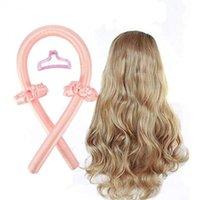 Heatless haste haste headband curls seda fita lazy encrespador rolos de cabelo dormindo macio vara de onda diy ferramentas de estilo de costura