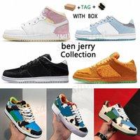 2021 Dunk SB BEN и Джерри Джеррис Трэвис Скоттс Макс Обувь 1 Красный Зеленый Белый Бренд Черный Парашют Бежевые Мужчины Женщины Скуп Спорт Wit Q27Z #