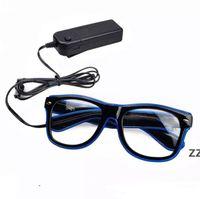 الجملة البند led حزب نظارات الأزياء سلك نظارات عيد هالوين حزب بار الزخرفية المورد نظارات مضيئة HWB10428