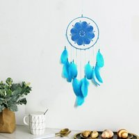 Goose Feather Lace Fashion Arts And Crafts Dream Catcher Home Furnishing Feathers Vehicle Pendant T2I52955