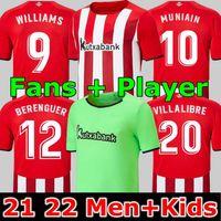 Fans Jugadores Versión 21 22 Club Soccer Jerseys Berenguer 2021 2022 MuniAn Athletic Bilbao Williams Camisa de fútbol Raul García VillaliBre Jersey