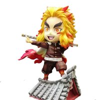 Anime SH Demon Slayer Kimetsu no Yaiba Rengoku Kyoujurou PVC Action Figure Model Anime Figure Collectible Statue Toy Doll Q0722