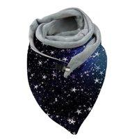 الأوشحة الشتاء سميكة الدافئة كبيرة الحجم مثلث وشاح مع كليب قوس قزح فراشة شال التفاف x5xa
