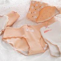 printed stitching, cartoon cotton women's underwear, breathable underpants, women's underwear, large size