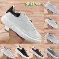 Plataforma reflectante de primera calidad Hombres Mujeres Zapatos Casuales Triple Blanco Reflectar Negro Multi Color Deep Blue Silver Silver Silflings