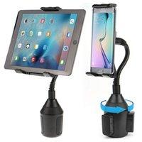 Auto Cup Tablet Holder Telefoon Mount Met Verstelbare Goosendeck 360 Graden Rotatie voor iPad iPhone Samsung Galaxy Tab