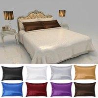 PC 50 * 76cm Color sólido suave Pure Pure Silk Funda de almohada Lavable Colorida Funda de almohada Cubierta Ama de casa Queen Estándar