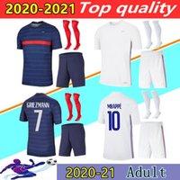 20 21 Franch Soccer Jerseys Kits 2021 Mbappe Grizmann Pogba Mailleot De Foot Home Third Shirts
