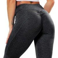 Cross1946 Mujeres Push Up Stretch Gym Leggings Pegamentos sin fisuras Deportes Ropa deportiva Mujeres Fitness Pantalones Pantalones de yoga 2020 x0628