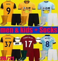 2021 2022 Lobos Semedo Raul Neto Futebol Jerseys 20 21 22 Wanderers J.Otto Podência Camisas de futebol Adama Homens Kits Kits Conjuntos Uniforme