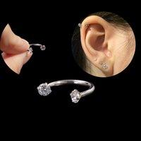 1pc Boucle d'oreille en acier chirurgical Piercing interne Sepo Nez nez à la lèvre Eaufeuille oreille septum Cartilage Helix Helix Captive Hoop Baging piercing