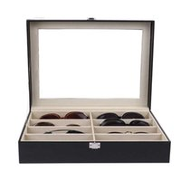 Storage Boxes & Bins Eyeglass Sunglasses Box With Window Imitation Leather Glasses Display Case Organizer Collector 8 Slot 32EI