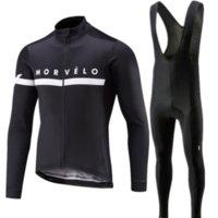 Pro Велоспорт Джерси набор 2021 Morvelo с длинным рукавом на горный велосипед Велоспорт Одежда дышащая MTB Велосипедная одежда Носить костюм для мужчин