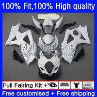 Bodywork OEM For SUZUKI GSXR 1000CC 1000 CC Gloss white K7 Injection Mold Body 27No.139 GSXR-1000 GSXR1000 07 08 GSXR1000CC 2007 2008 GSX-R1000 2007-2008 Fairing Kit